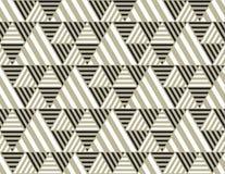 Contexto de la geometría del triángulo con las rayas Fotos de archivo libres de regalías