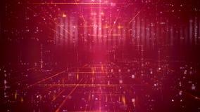 Contexto de la púrpura de la tecnología de la ilusión óptica Fotografía de archivo libre de regalías