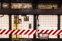 Contexto de la pared del subterráneo Fotografía de archivo
