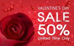 Contexto de la venta del día del ` s de la tarjeta del día de San Valentín Fotos de archivo libres de regalías
