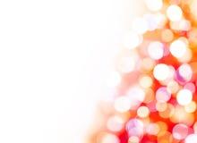 Contexto de las luces de la Navidad Foto de archivo libre de regalías