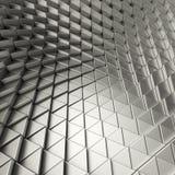 Contexto de los triángulos del extracto de Chrome Fotos de archivo libres de regalías
