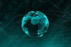 Contexto del globo de Digitaces stock de ilustración