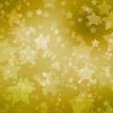 Contexto del oro para los saludos con las estrellas ilustración del vector