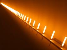 Contexto diagonal do bokeh das lâmpadas da iluminação Foto de Stock Royalty Free