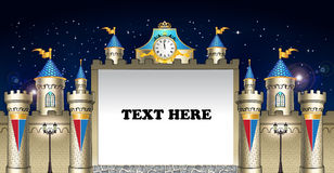 Contexto do castelo dos contos de fadas Imagem de Stock Royalty Free