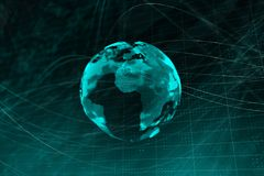 Contexto do globo de Digitas ilustração stock