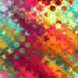 Contexto do mosaico do triângulo Fotografia de Stock