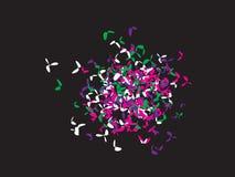 Contexto dos confetes do trevo ilustração stock