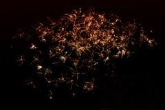 Contexto dos fogos de artifício fotografia de stock
