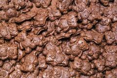 Contexto dos ursos das cookies do chocolate Foto de Stock Royalty Free