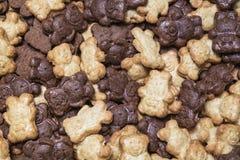 Contexto dos ursos do chocolate e de mel Imagem de Stock