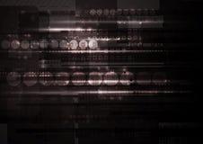 Contexto escuro do vetor da olá!-tecnologia Imagem de Stock Royalty Free