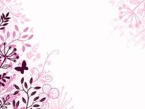 Contexto floral del fondo del rosa y del negro Imagen de archivo libre de regalías