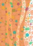 Contexto floral vertical Fotografía de archivo