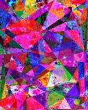 Contexto geométrico com aquarela e pintura digital para o dif Foto de Stock Royalty Free