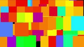 contexto grande do base de dados dos dados do background&cube da matriz da disposição da luz de néon do quadrado do vj 4k ilustração stock