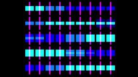 contexto grande do base de dados dos dados do background&cube da matriz da disposição da luz de néon do quadrado do vj 4k ilustração do vetor