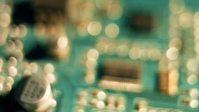 Contexto macio do movimento da placa de circuito video estoque