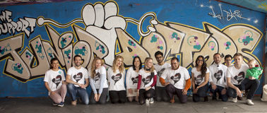 Contexto mural para Junior Doctors Fotografia de Stock Royalty Free