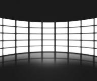 Contexto negro de la etapa de la show televisivo Imagen de archivo libre de regalías