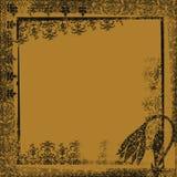 Contexto ornamental de las ilustraciones de la fantasía de Grunge libre illustration