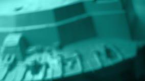 Contexto oscuro del título del arte del diseño moderno de la nueva tecnología almacen de metraje de vídeo