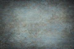 Contexto pintado azul del estudio de la lona o de la muselina Foto de archivo