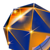 Contexto pixilated plástico, objeto 3d esférico lustroso Fotos de Stock