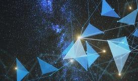 Contexto poligonal do espaço Imagens de Stock Royalty Free