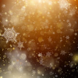Contexto que brilla intensamente del día de fiesta de oro de la Navidad Vector del EPS 10 Imagen de archivo