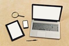Contexto responsivo do design web Foto de Stock Royalty Free