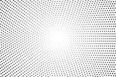 Contexto retro pontilhado, painéis com pontos, pontos, círculos, círculos Teste padrão cômico Cor preto e branco ilustração royalty free