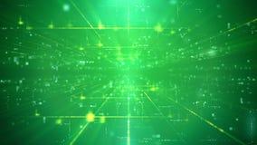 Contexto Trancelike del verde de la tecnología Imágenes de archivo libres de regalías