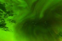 Contexto verde del extracto del cielo nocturno de la aurora boreal Foto de archivo libre de regalías