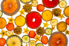 Contexto vibrante de la fruta fresca cortada translúcida Imagen de archivo libre de regalías