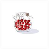 Conti con le ciliege ed i cuori il giorno del ` s del biglietto di S. Valentino Struttura decorativa di vettore Fotografia Stock Libera da Diritti