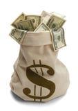 Borsa dei soldi Fotografie Stock Libere da Diritti