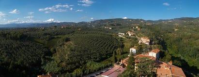 Conti panoramico Guidi Castle View immagine stock libera da diritti