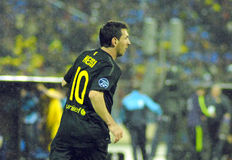 CONTIENDA del partido de fútbol FC - FC Barcelona Imagenes de archivo