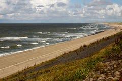 Contiene barreras en el Mar del Norte peterson Países Bajos Imagenes de archivo