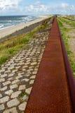 Contiene barreras en el Mar del Norte peterson Países Bajos Imagen de archivo