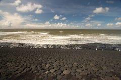 Contiene barreras en el Mar del Norte peterson Países Bajos Fotos de archivo