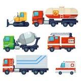 Contiene quale l'automobile industriale pesante del veicolo, il trattore, la macchina della costruzione, automobile di estinzione illustrazione vettoriale