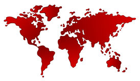 Continent. Bloody continent on a white background royalty free illustration