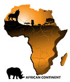 Continent Africa. On the image the African continent is presented vector illustration