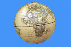Continent of Africa Depicted on World Globe Stock Photos