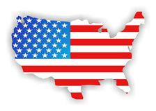 Continent de l'Amérique photographie stock libre de droits