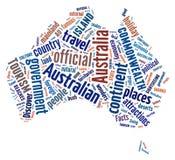 Continent de l'Australie illustration libre de droits