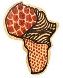 Continent en bois de l'Afrique images libres de droits
